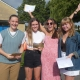 Wellsway School Sixth Form students celebrate their successes, 2021